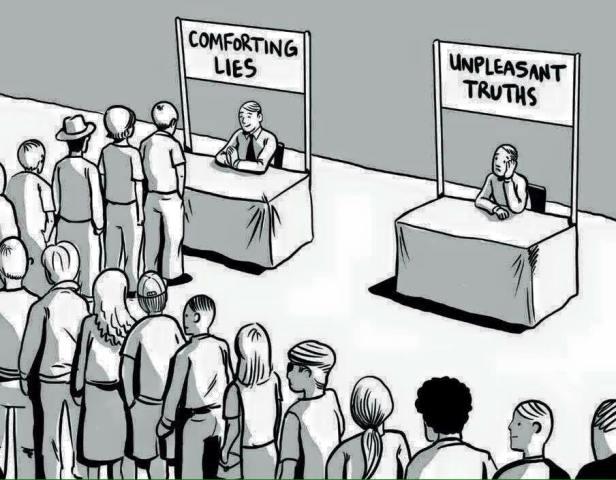 comforting lie cartoon