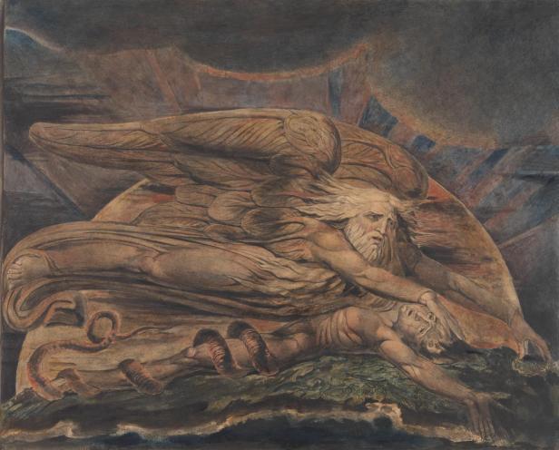 Elohim Creating Adam 1795-c. 1805 by William Blake 1757-1827