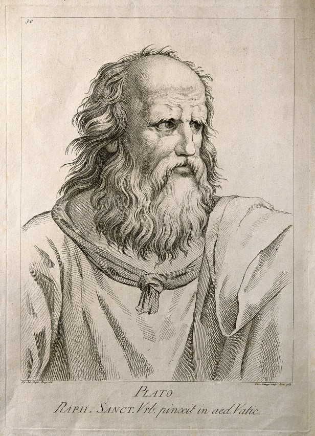 V0004702 Plato. Etching by D. Cunego, 1783, after R. Mengs after Raph